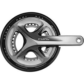 Shimano Claris FC-R2000 - Manivelle - 2x8 vitesses 50-34 dents gris